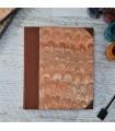 [Various Sizes] Orange Marbled Album with Canvas Spine
