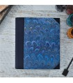 [Various Sizes] Royal Blue Marbled Album with Canvas Spine