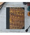 [Various Sizes] Brown Marbled Album with Canvas Spine