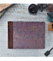[Various Sizes] Purple Marbled Album with Leather Spine