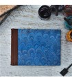 [Various Sizes] Royal Blue Marbled Album with Leather Spine