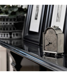 Italian Pewter Desk Clock