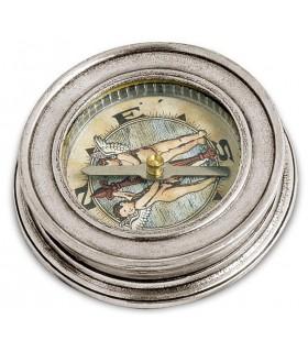 Italian Pewter Compass