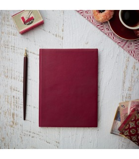 $15 donation to NBCF - A5 Soft Leather Journal - No Tie