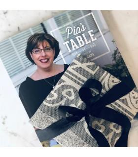 Pia's Table Cookbook and Italian Linen Teatowel Gift Set