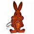 Rabbit Leather Key Ring