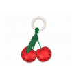 Cherries Leather Key Ring