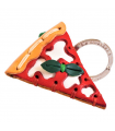 Pizza Leather Key Ring