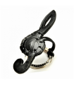 Treble Clef Leather Key Ring