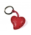Red Heart Leather Key Ring