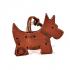 Scottish Dog Leather Key Ring