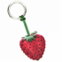 Strawberry Leather Key Ring