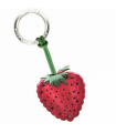 Strawberry Leather Key Ring