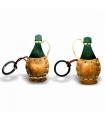 Wine Bottle Leather Key Ring