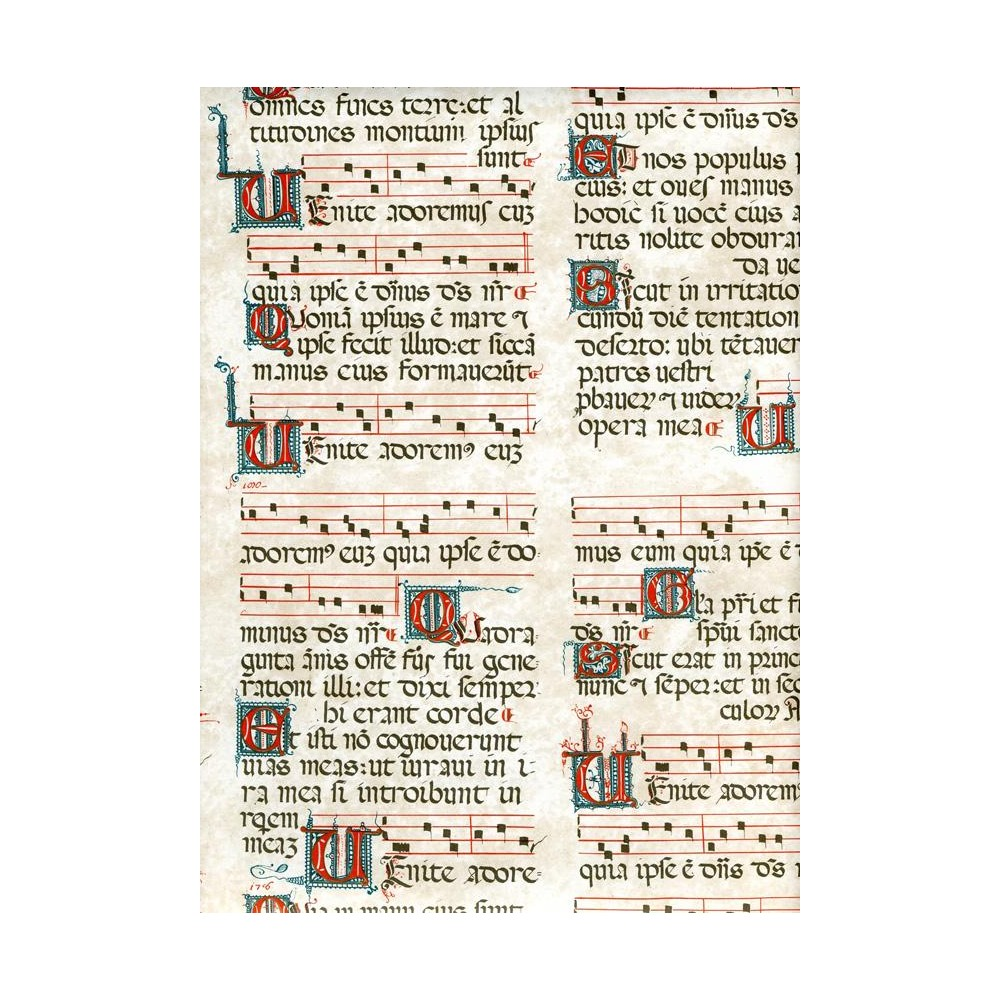 Gregorian Chant Wrapping Paper