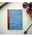 Royal Blue Marble Journal with Leather Spine