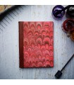 Red Marble Journal with Leather Spine