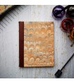 [Various Sizes] Orange Marble Journal with Leather Spine