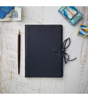 [Various Sizes] Blue Soft Leather Journal with Tie