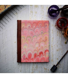 $10 donation to NBCF -  Pink Marble Journal with Leather Spine