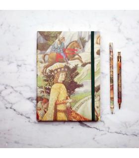 [Various Sizes] Benozzo Gozzoli Paper Journal with Elastic
