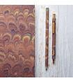 Brown Marble Pen & Pencil