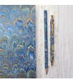 Marine Blue Marble Pen & Pencil