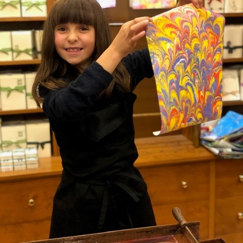 Piccoli Artisans Paper Marbling Workshop